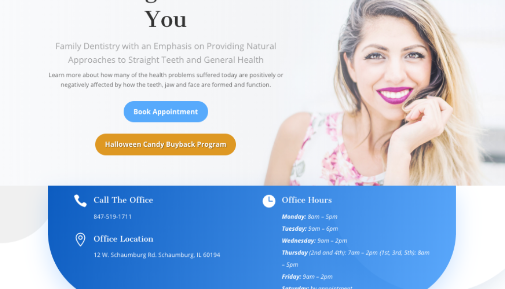 New Website Design for Serenity Dental Studio
