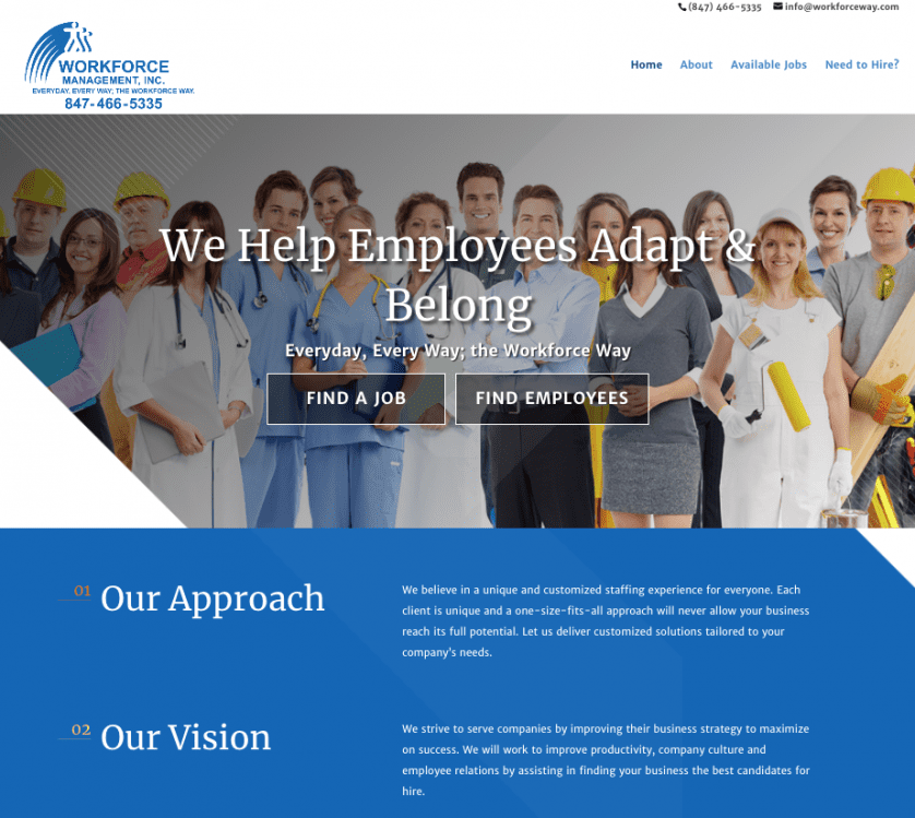 workforce management website design