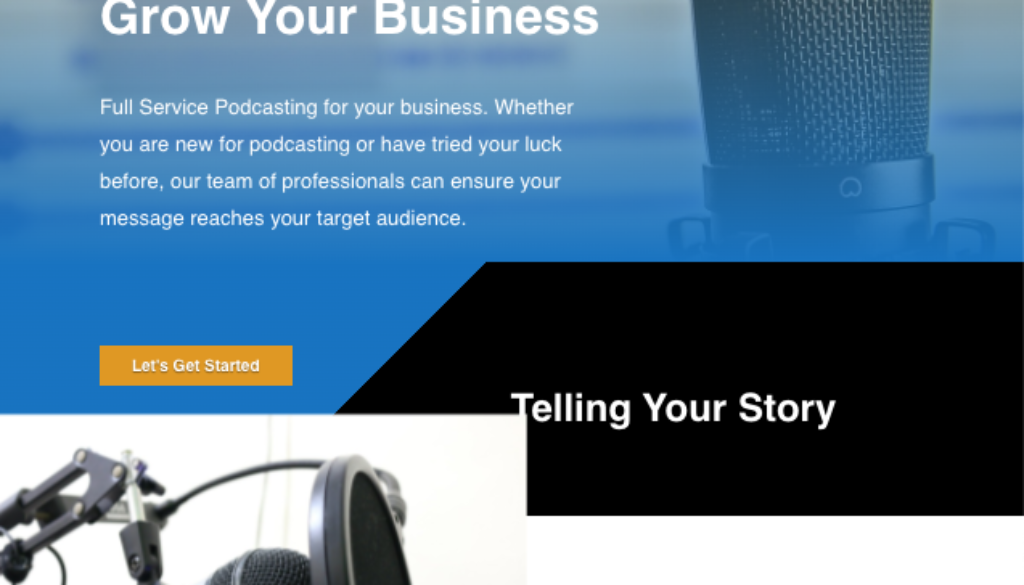 Say It Podcast Website Design