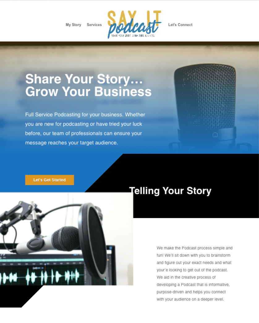 Say It Podcast Website Design